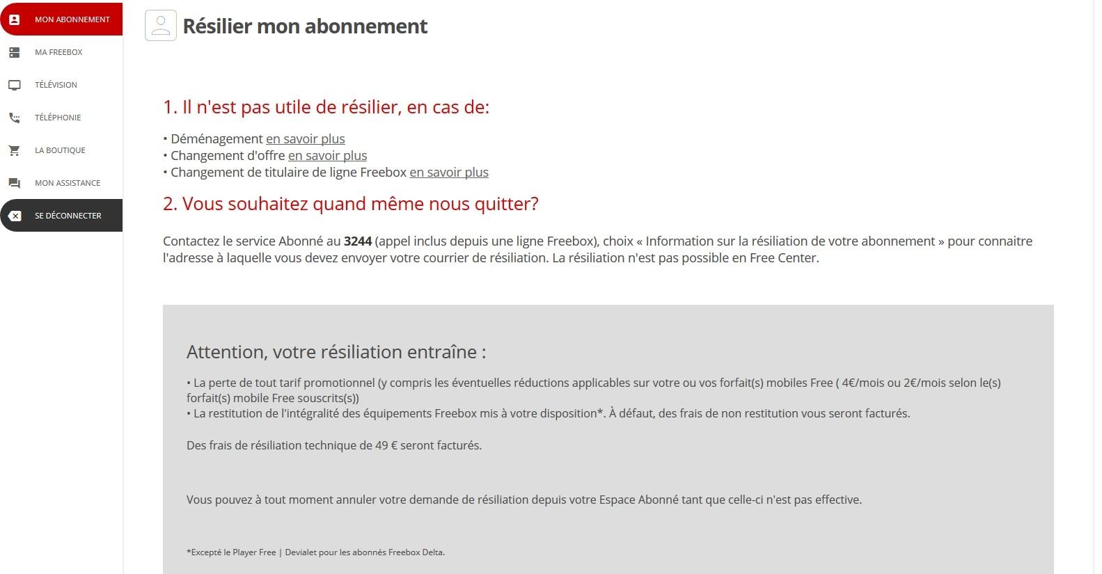 Free Complexifie Sa Demarche De Resiliation Frandroid