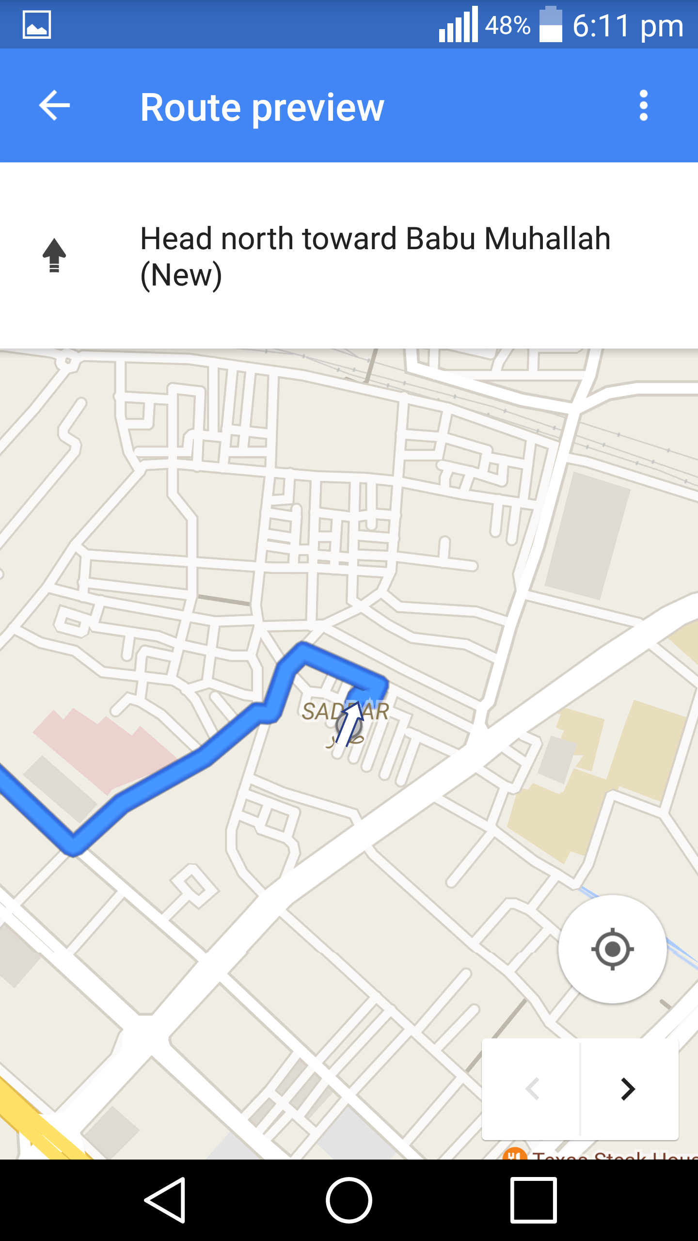 how to start navigation on google maps