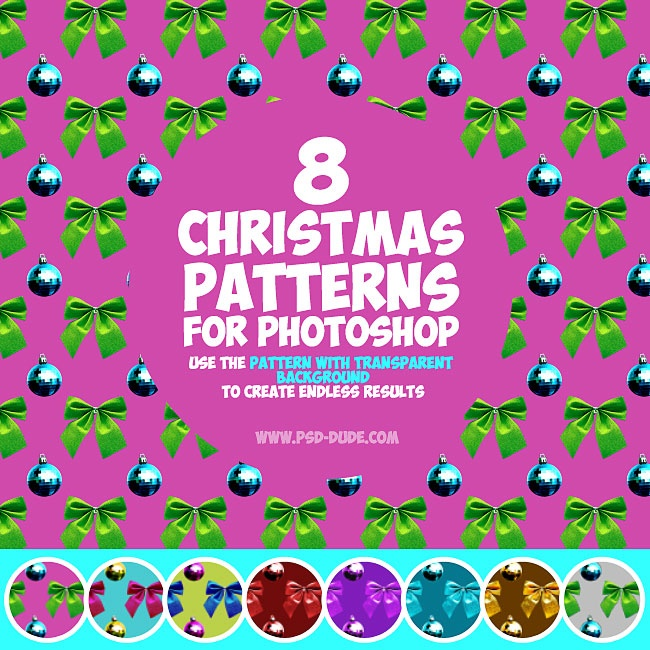 10 Beautiful Christmas Photoshop Patterns Packs