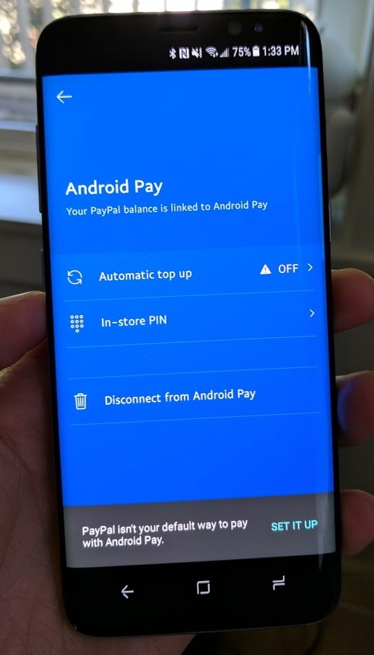how to set up android pay with paypal