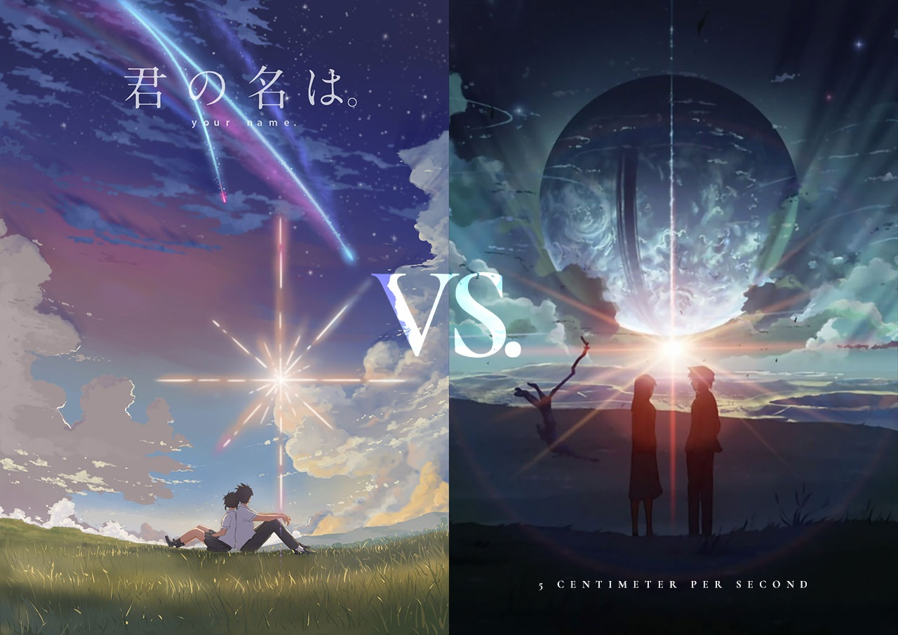 Anime 5 centimeters per second vs your name