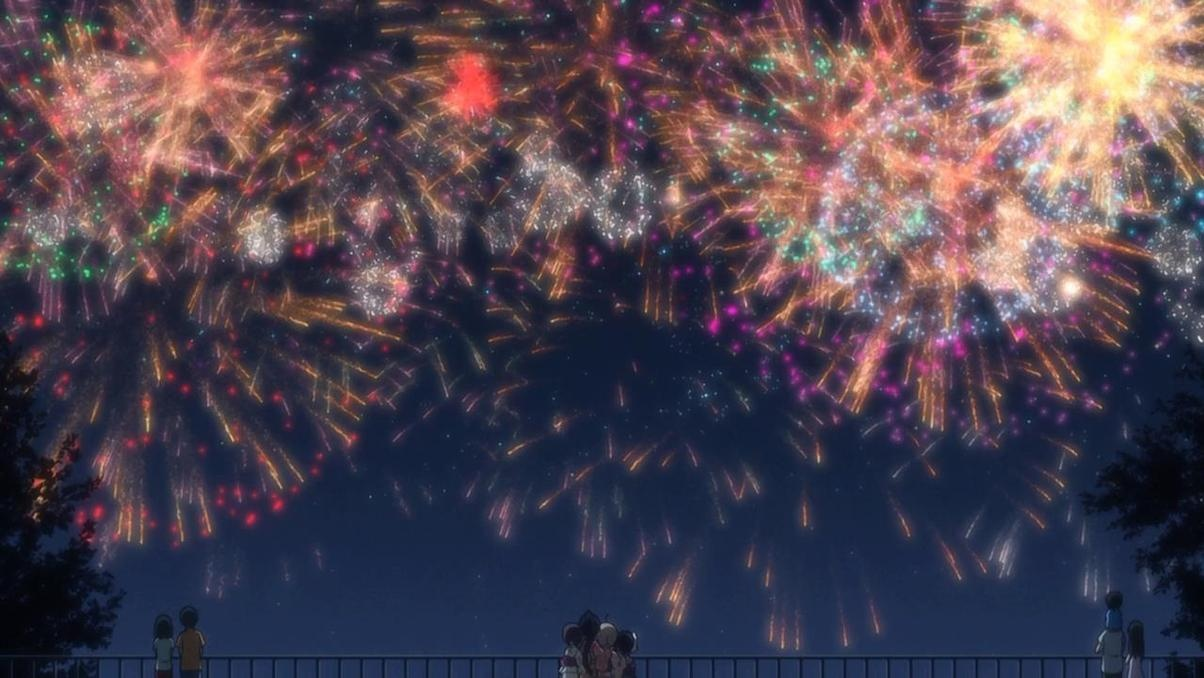 Image result for anime fireworks