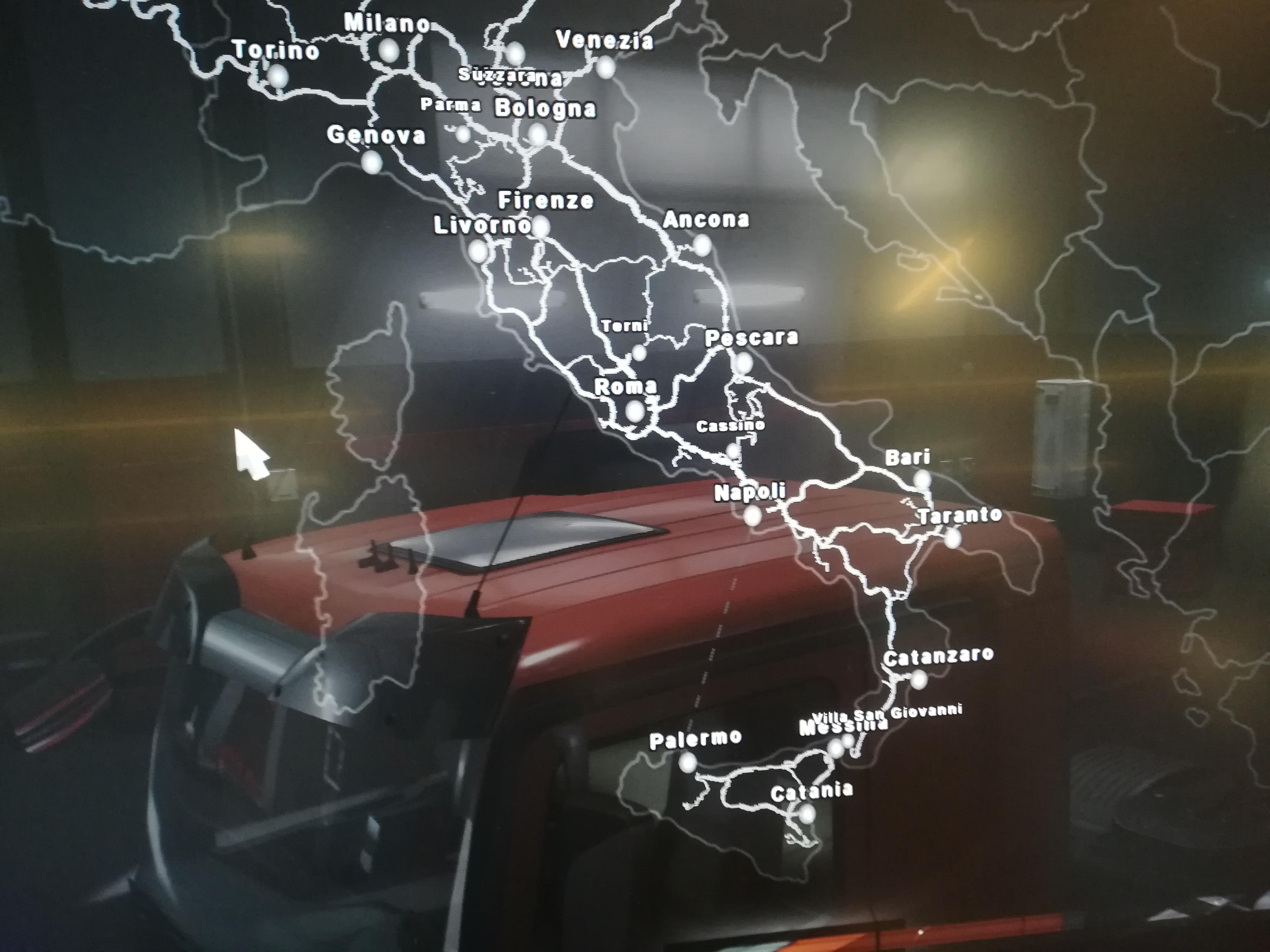 Карта Италии в ETS 2