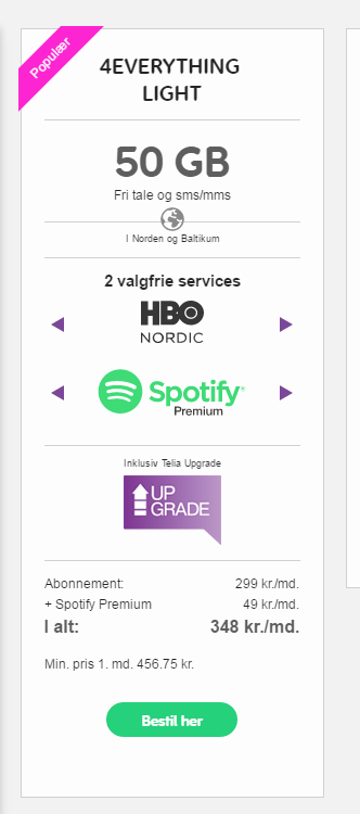 gratis spotify 6 månader telia