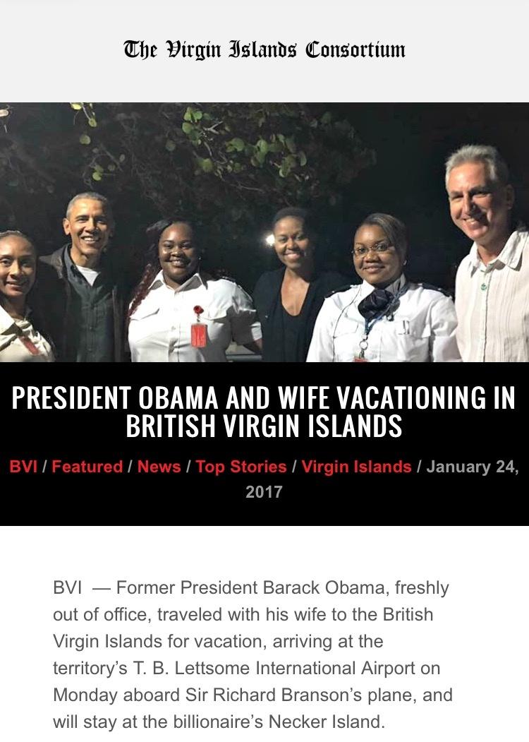 michelle obama flies to private island