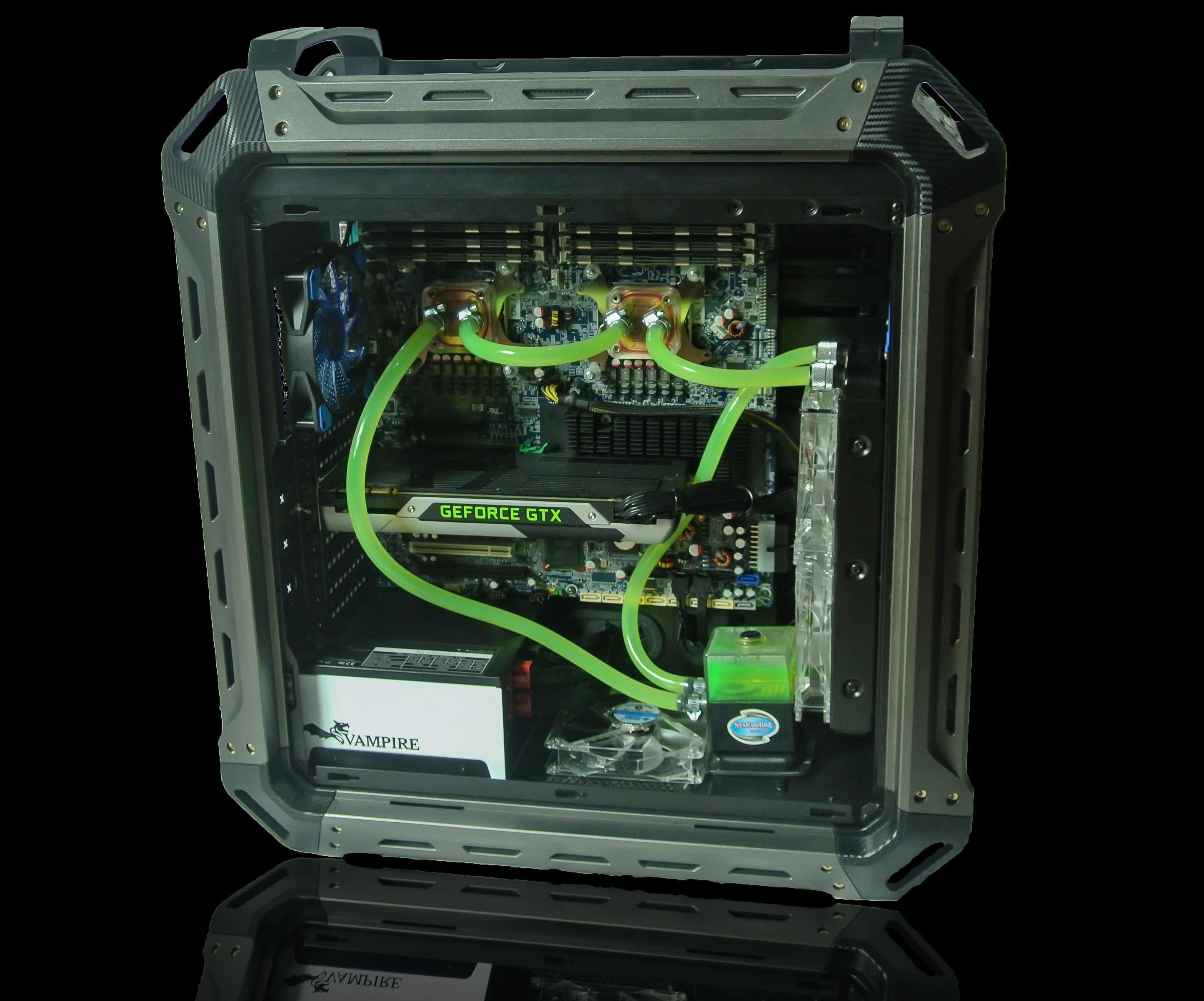 Hacking the HP Z800 Xeon motherboard into a standard case - mandegar