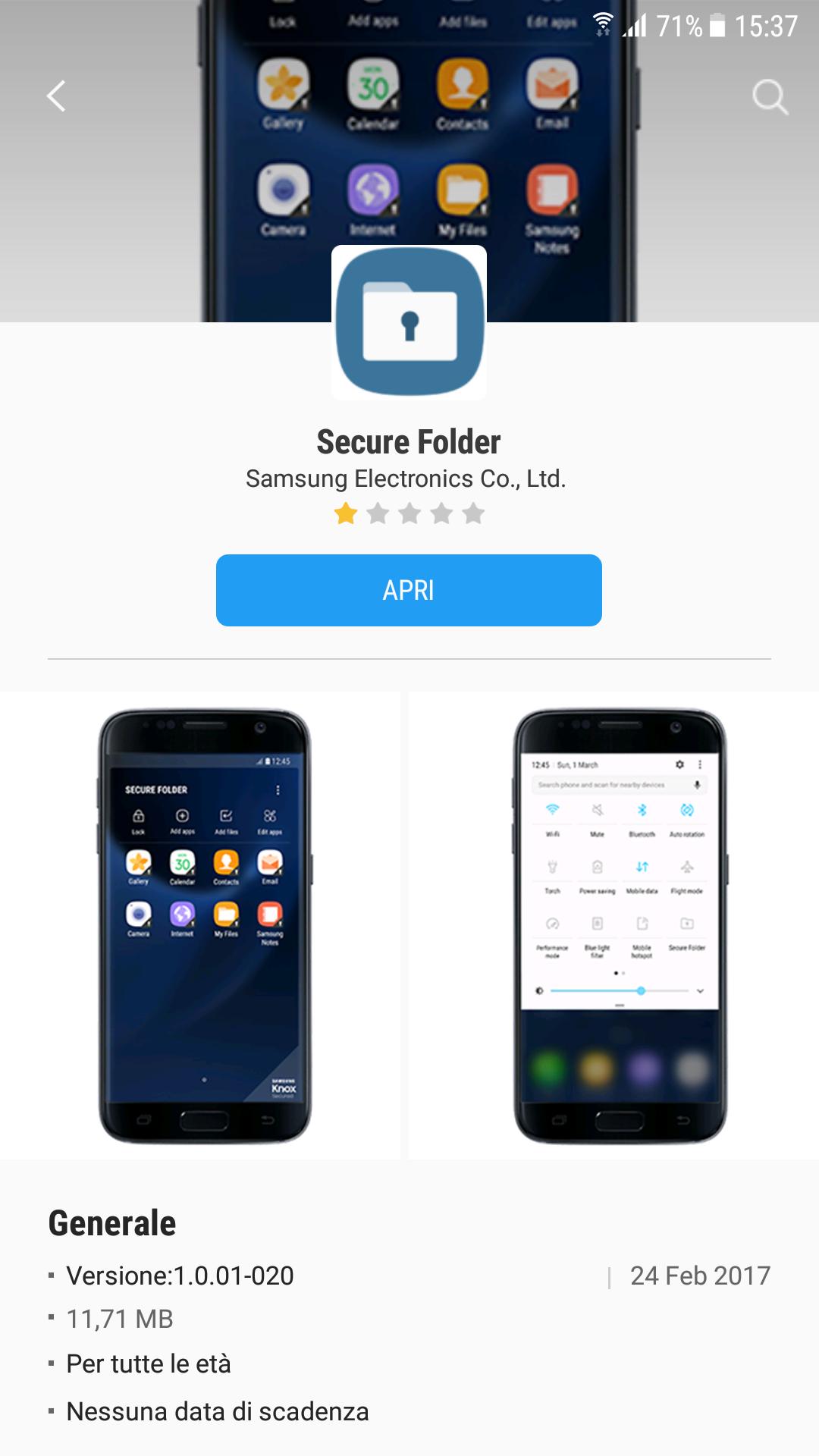 how to add folders on samsung s7 in app folder