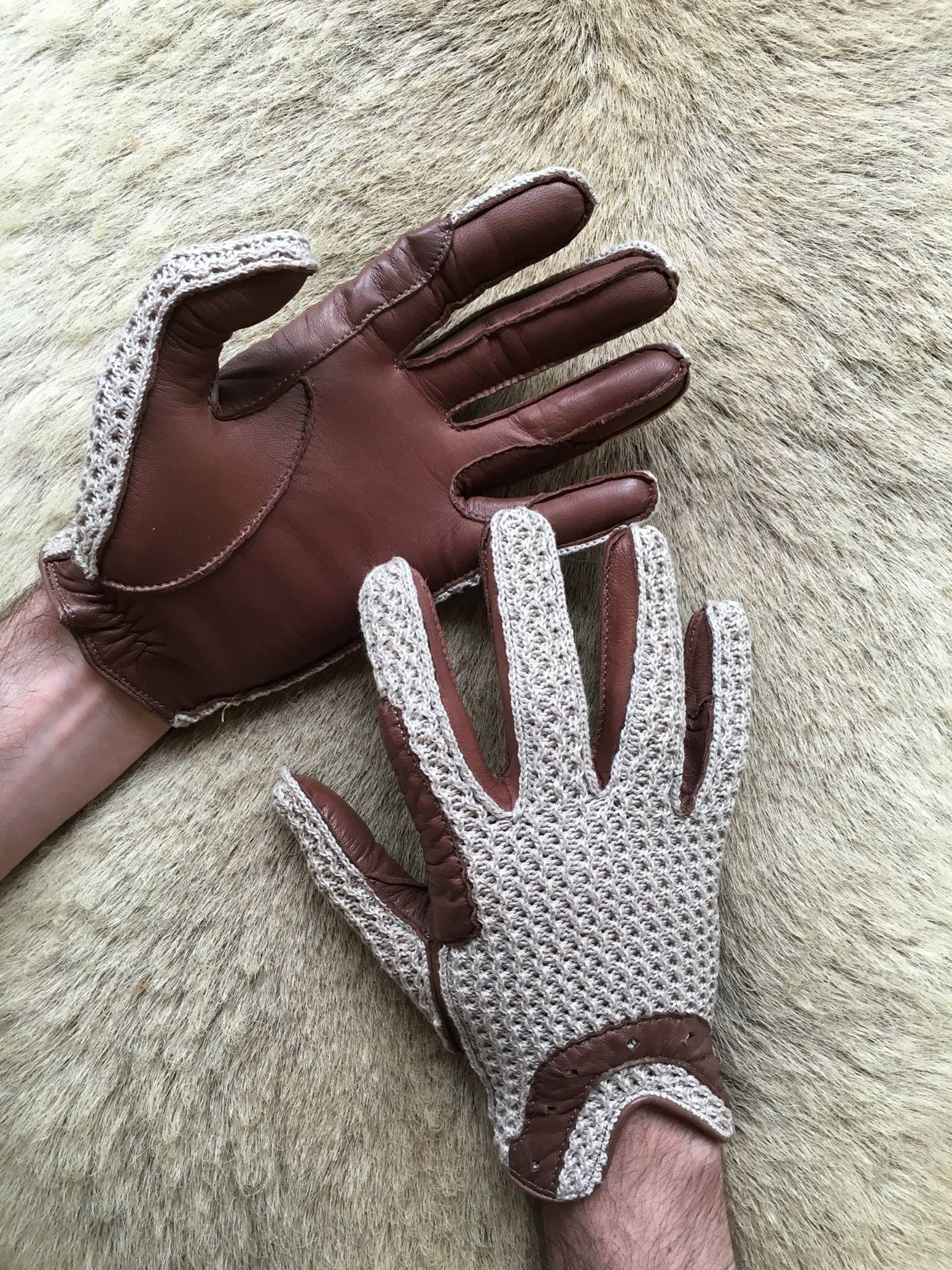 Leather driving gloves mercedes - Comment Image Comment Image