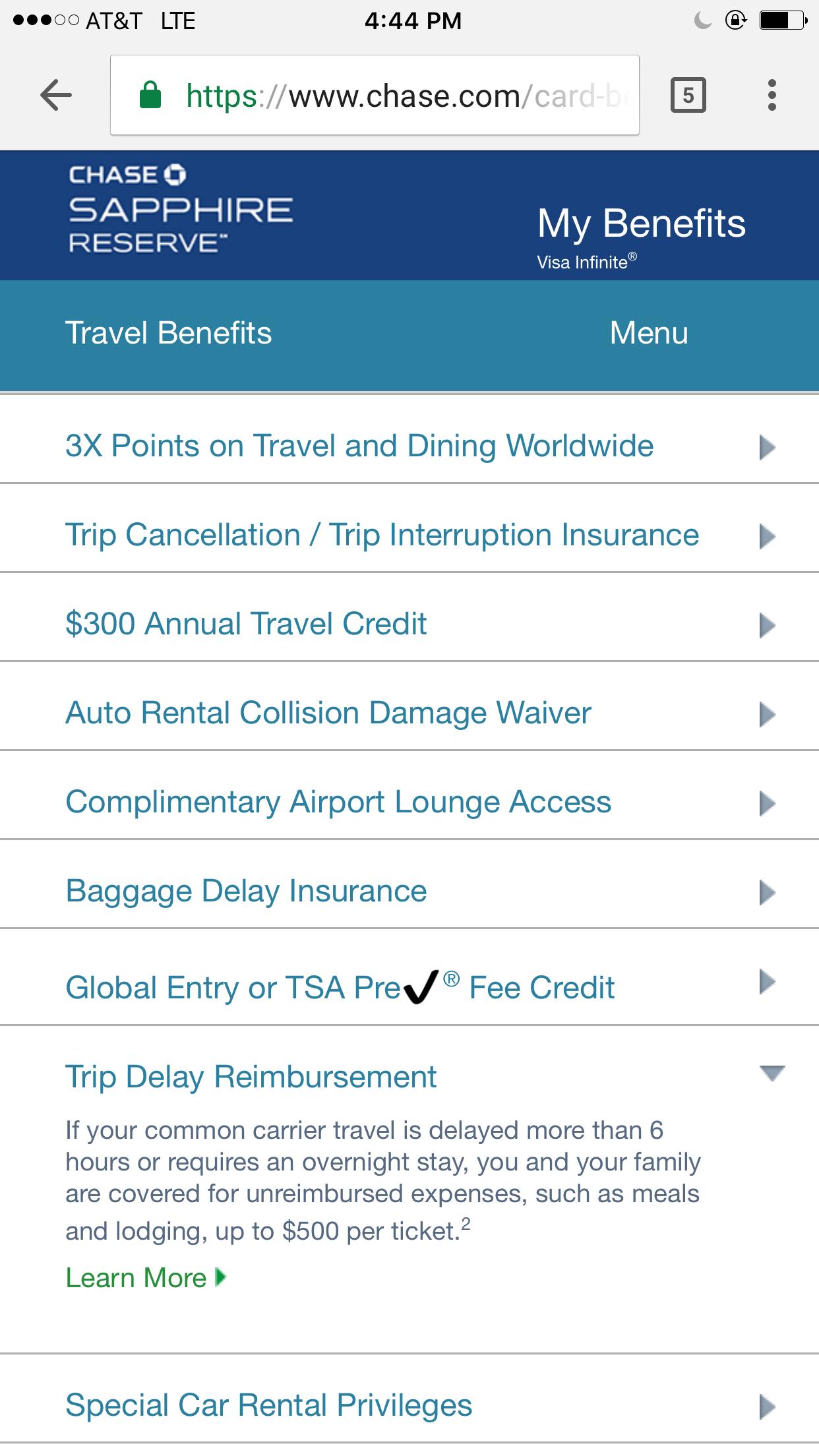 Chase Sapphire Card Benefit Car Rental Insurancew