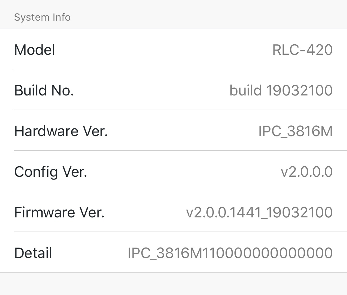 firmware update for rlc-420 ipc_51316m