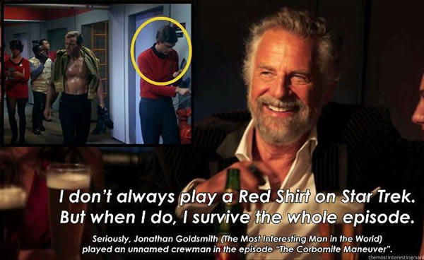 the most interesting man in the world played a red shirt on star