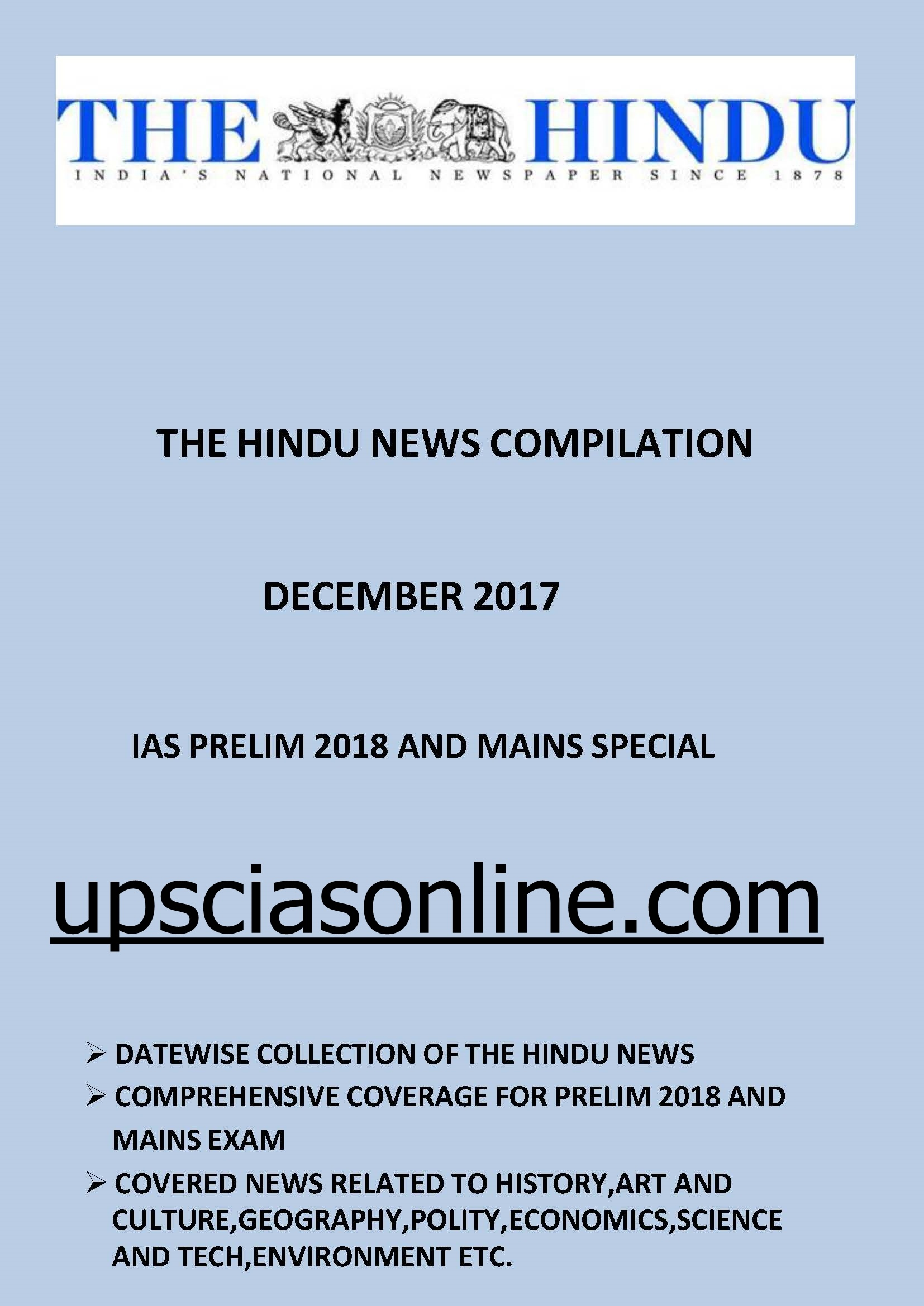 UPSC Quiz 2018 IASbabas Daily Current Affairs Quiz Day