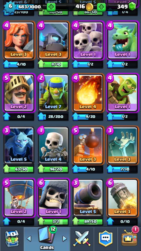 Arena 5 decks easily push to arena 7 clash royale guides for Deck pekka arene 7