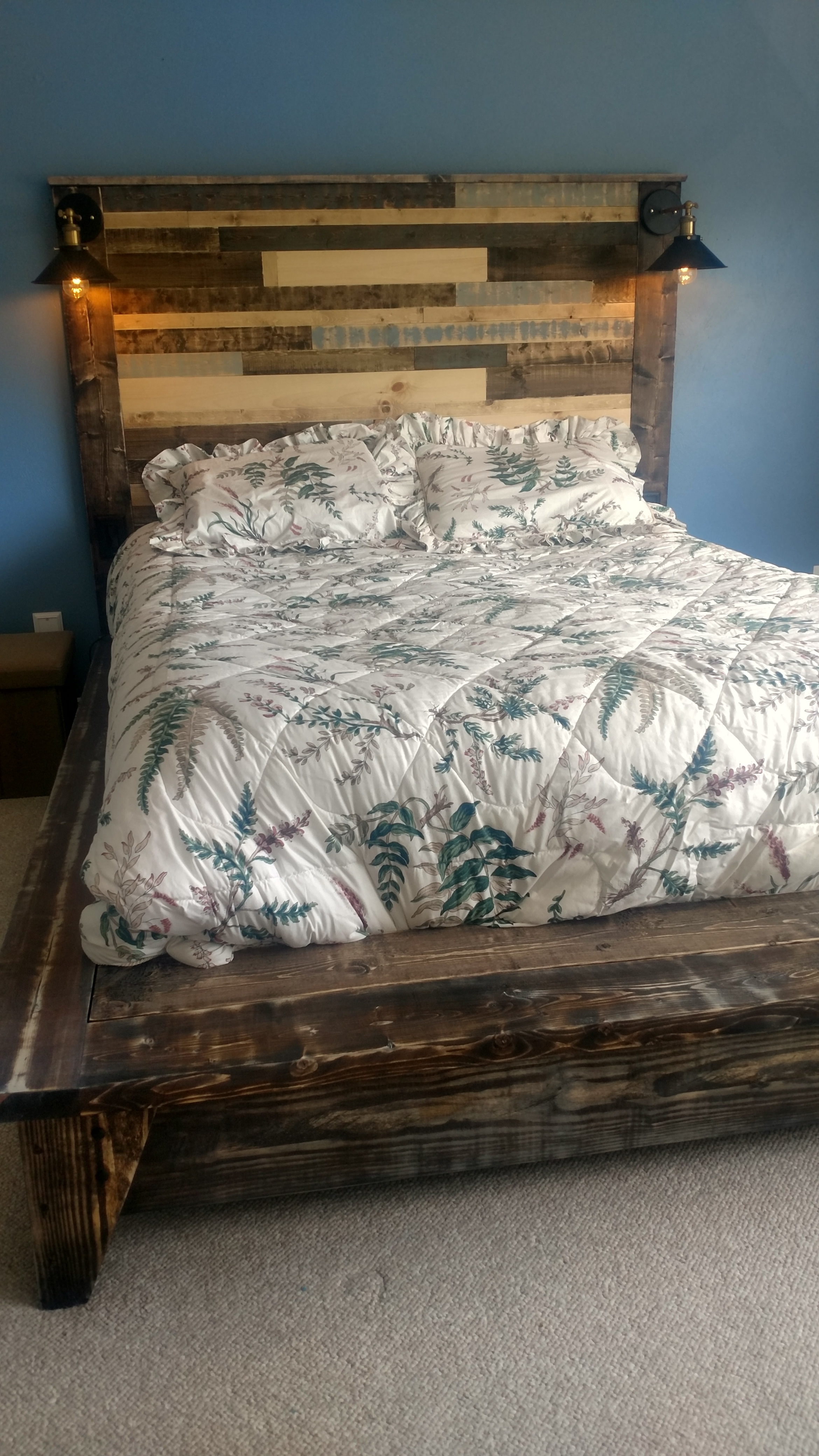i just finished building my version of this bed i must say my wife and i are well pleased with the results
