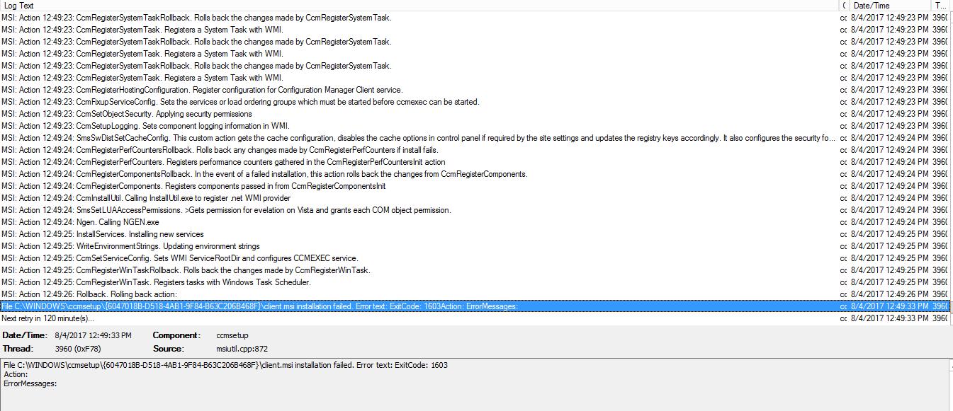 SCCM Client Agent Installation Error code 80041002 – Prajwal Desai