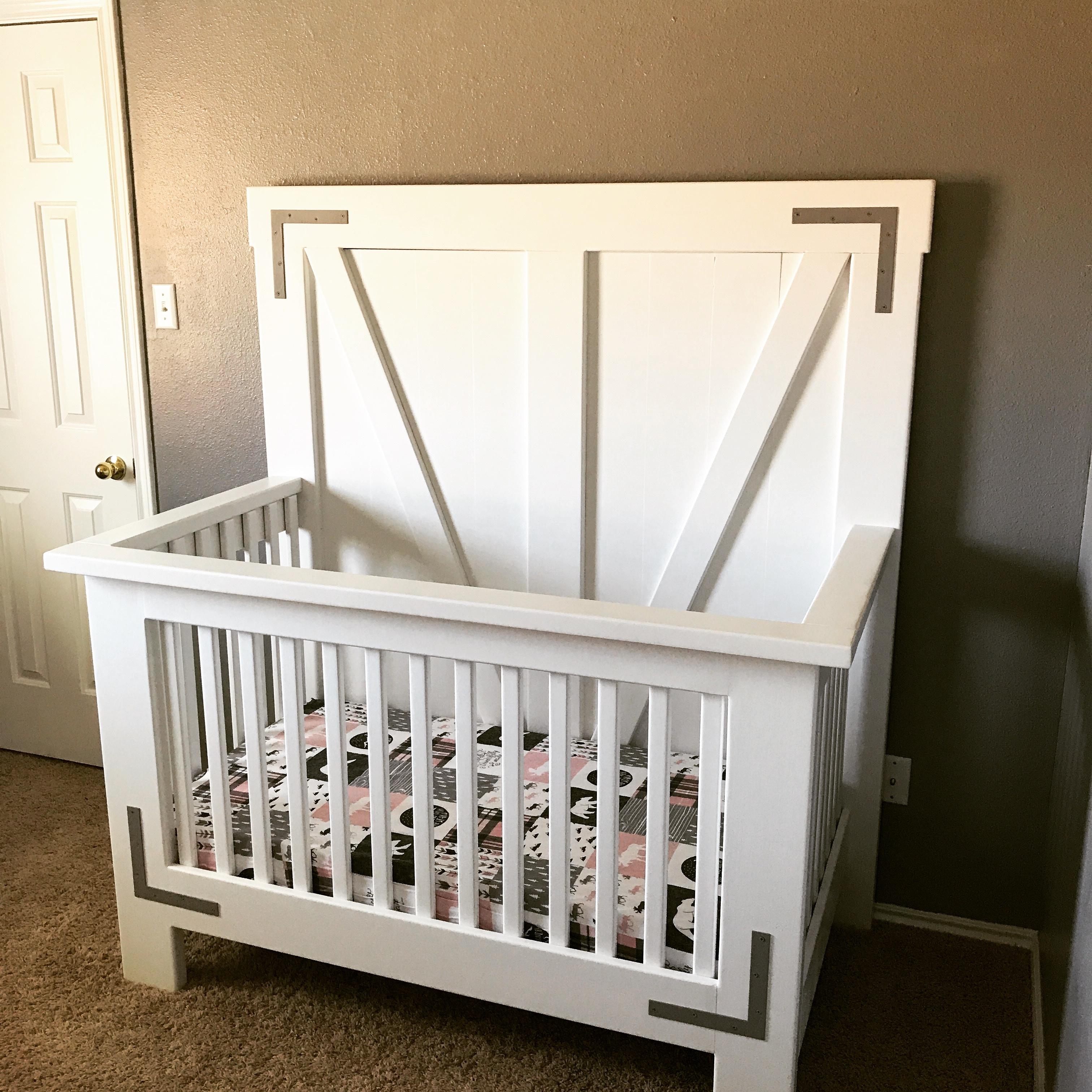 DIY Farmhouse Crib - Free Tutorial and Plans - Shanty 2 Chic