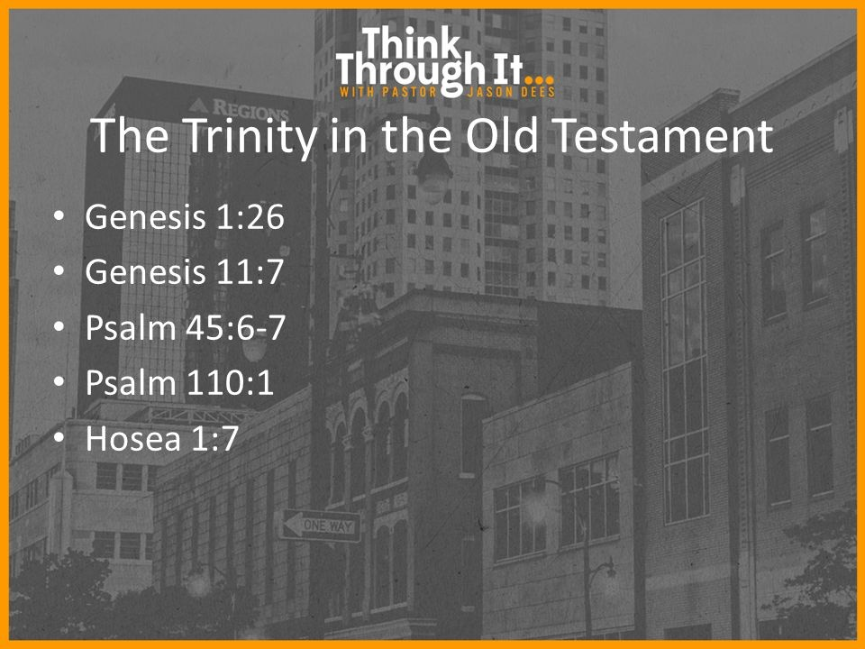 The Trinity of the Old Testament !! · The Gospel of Jesus