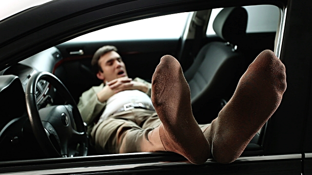 Image result for man sleeping in car