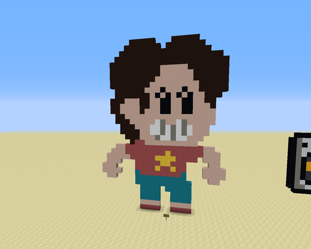 A custom sprite of Steven Universe, inspired by his sprite from Save The Light.