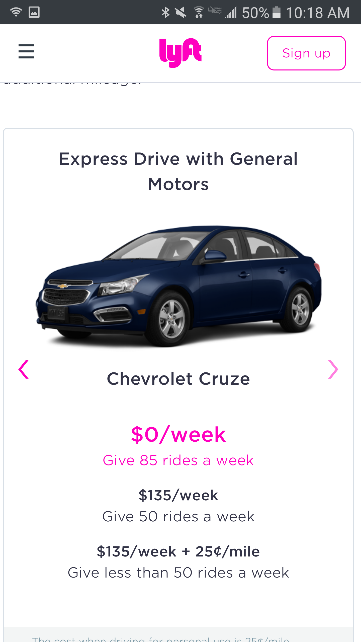 No Rental Cars Available Lyft Driver