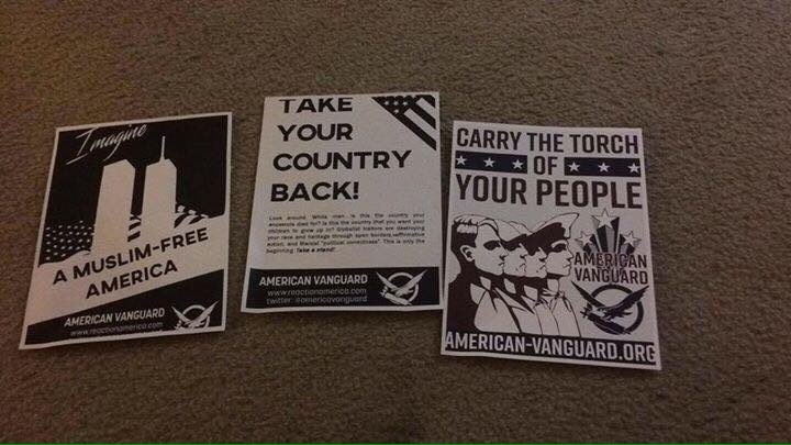 muslim free america posters turn up on multiple college campuses