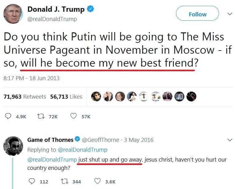 Наші відносини з Росією ніколи не були гіршими, ніж зараз, через американську нерозсудливість і дурість, - Трамп - Цензор.НЕТ 8601
