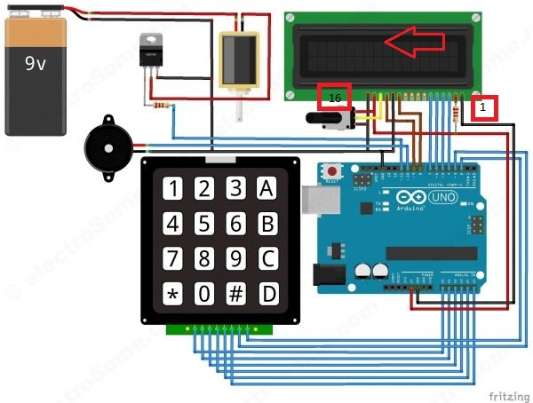 Digital Door Lock Using Arduino Keypad Number Lock