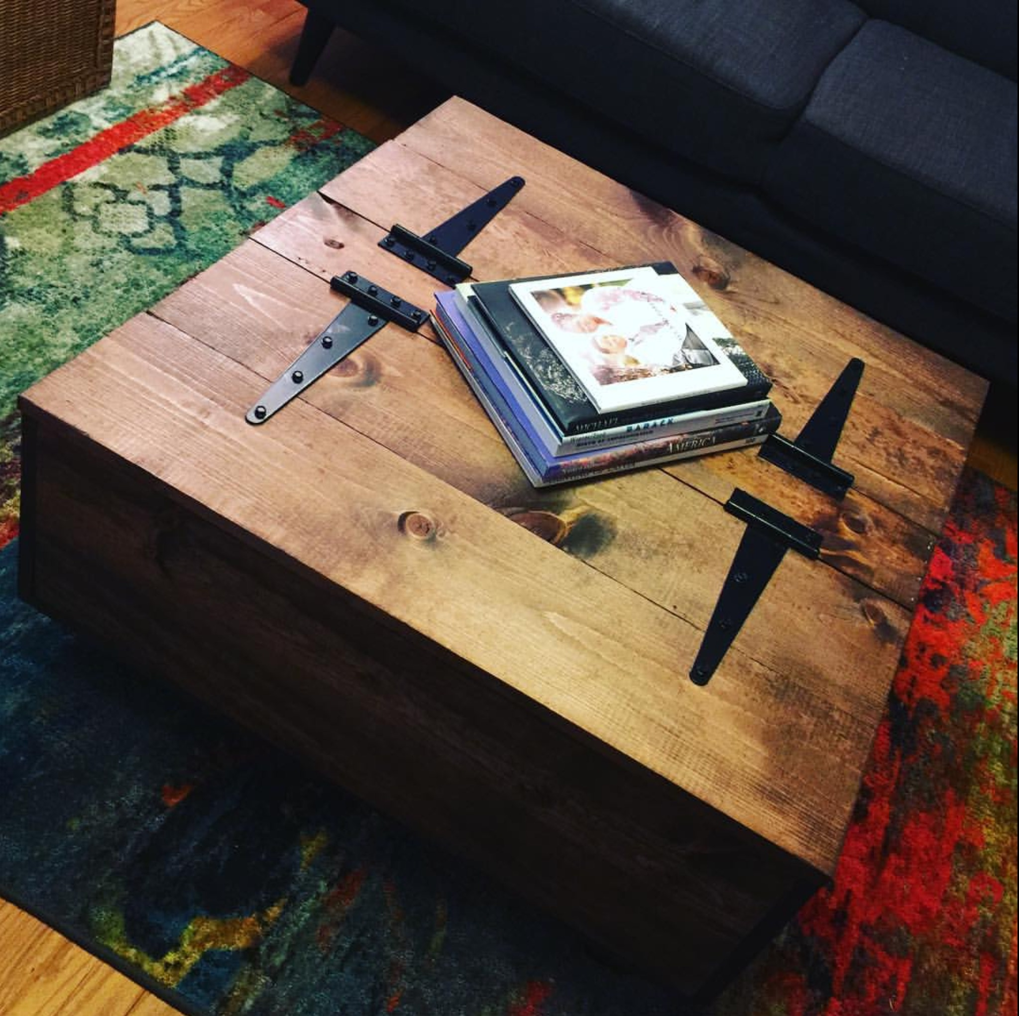 Diy storage coffee table youtube video tutorial for Coffee table 70 x 40