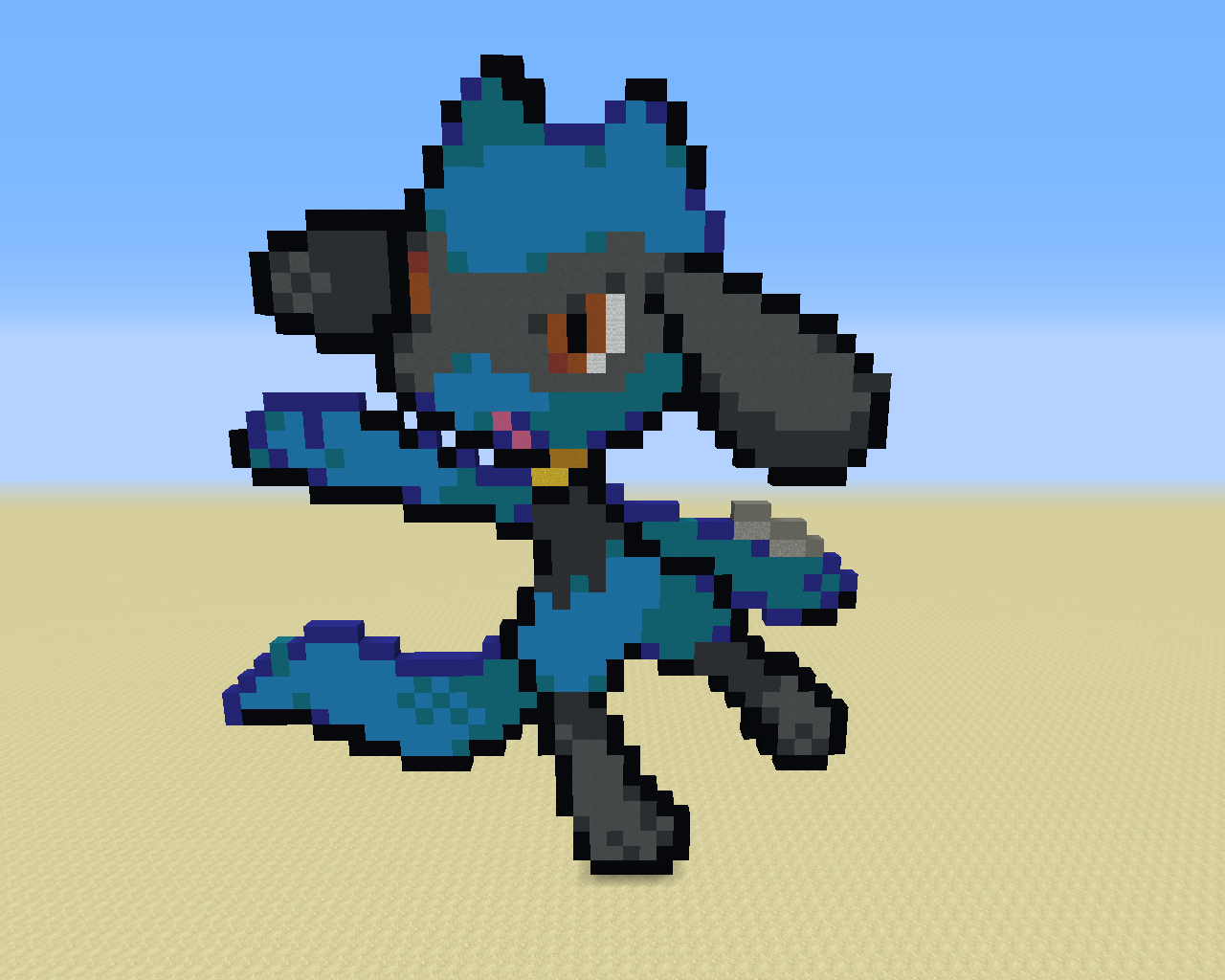 A sprite of Riolu. I can't remember if this was from Diamond/Pearl/Platinum or Black/White/2.