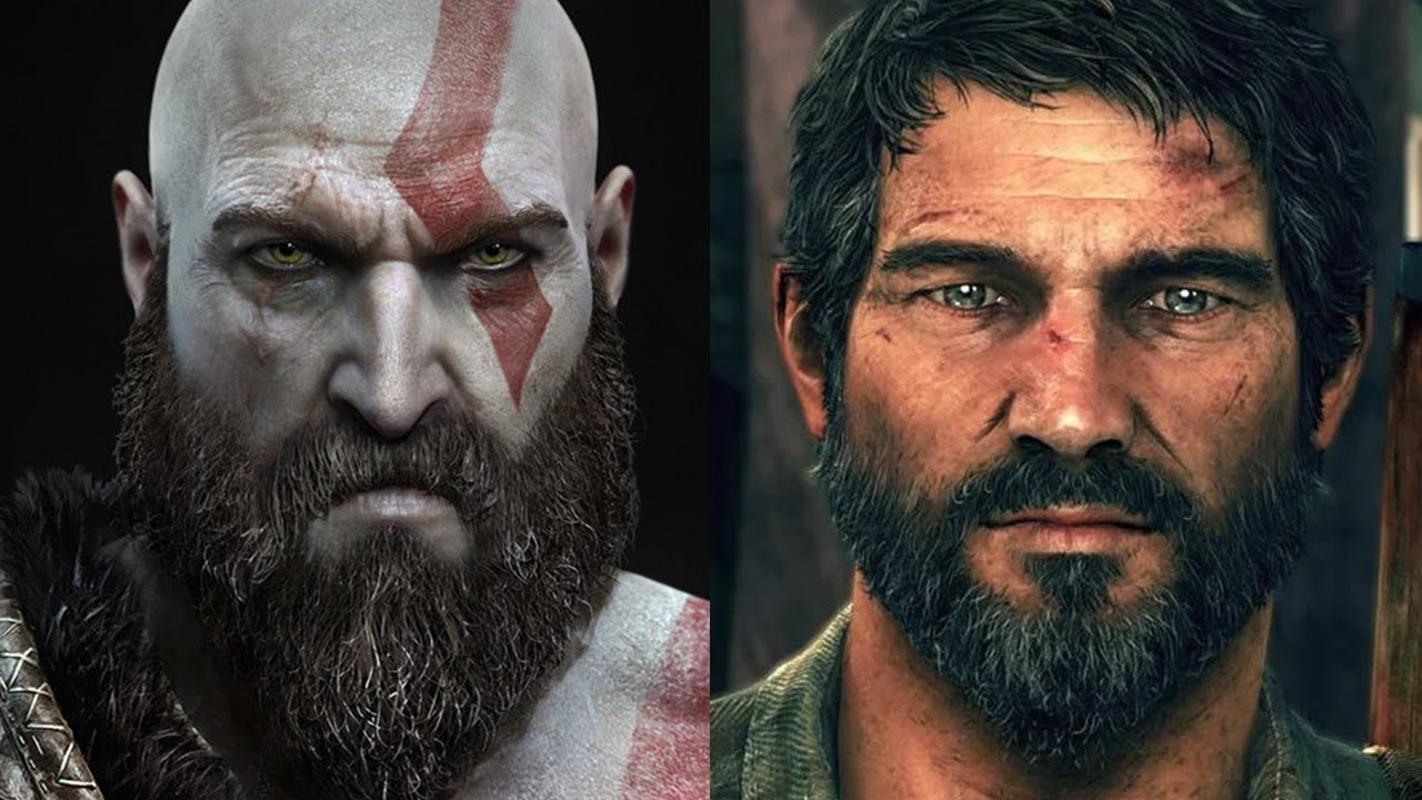 Kratos (left) and Joel (right)
