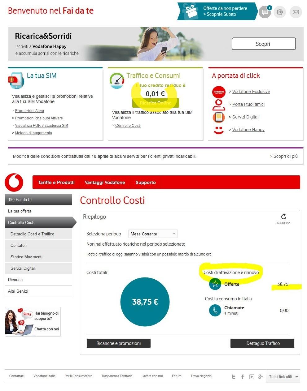 Problemi in porta un amico di vodafone premi irregolari - Vodafone porta un amico ...