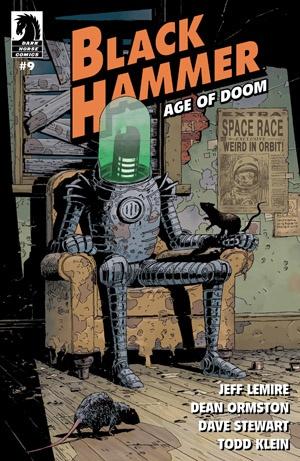 Actualización 06/04/2019: Floyd Wayne y W.D. de Outsiders nos trae el numero #9 de esta miniserie. ¡Con nuestros héroes atrapados en un mundo nuevo y extraño, todo dependerá de la nueva Black Hammer para ponerlos a salvo!