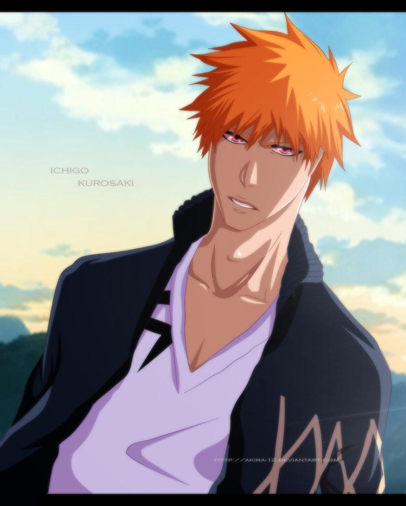 With guy Anime orange hair 2019
