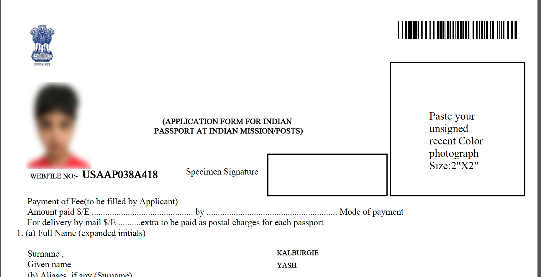 Renew Indian Child Passport in USA - Documents, Process