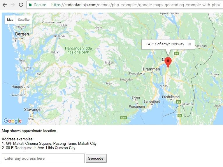 geocode google maps php geo