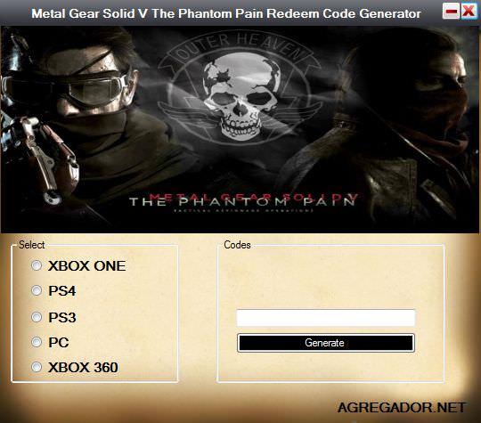 Metal Gear Solid V The Phantom Pain Codes Generator · CodesContent