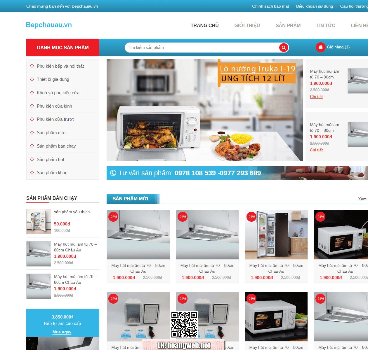 Mẫu web nội thất bếp thumbnail