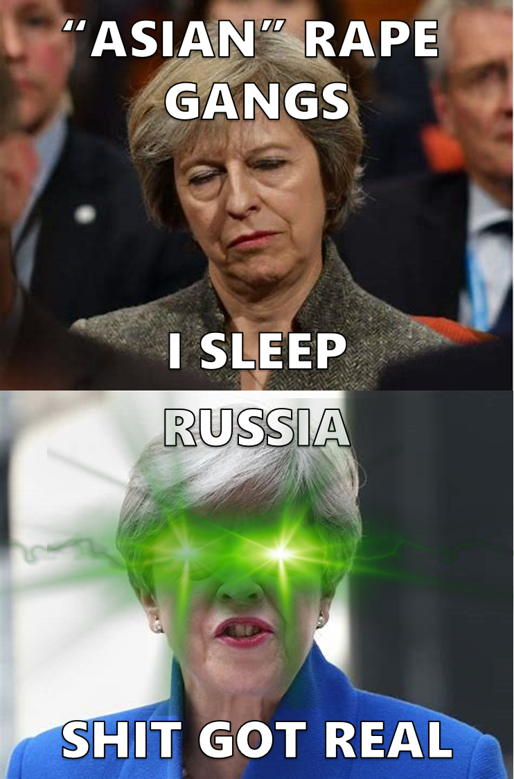 Theresa May Asleep