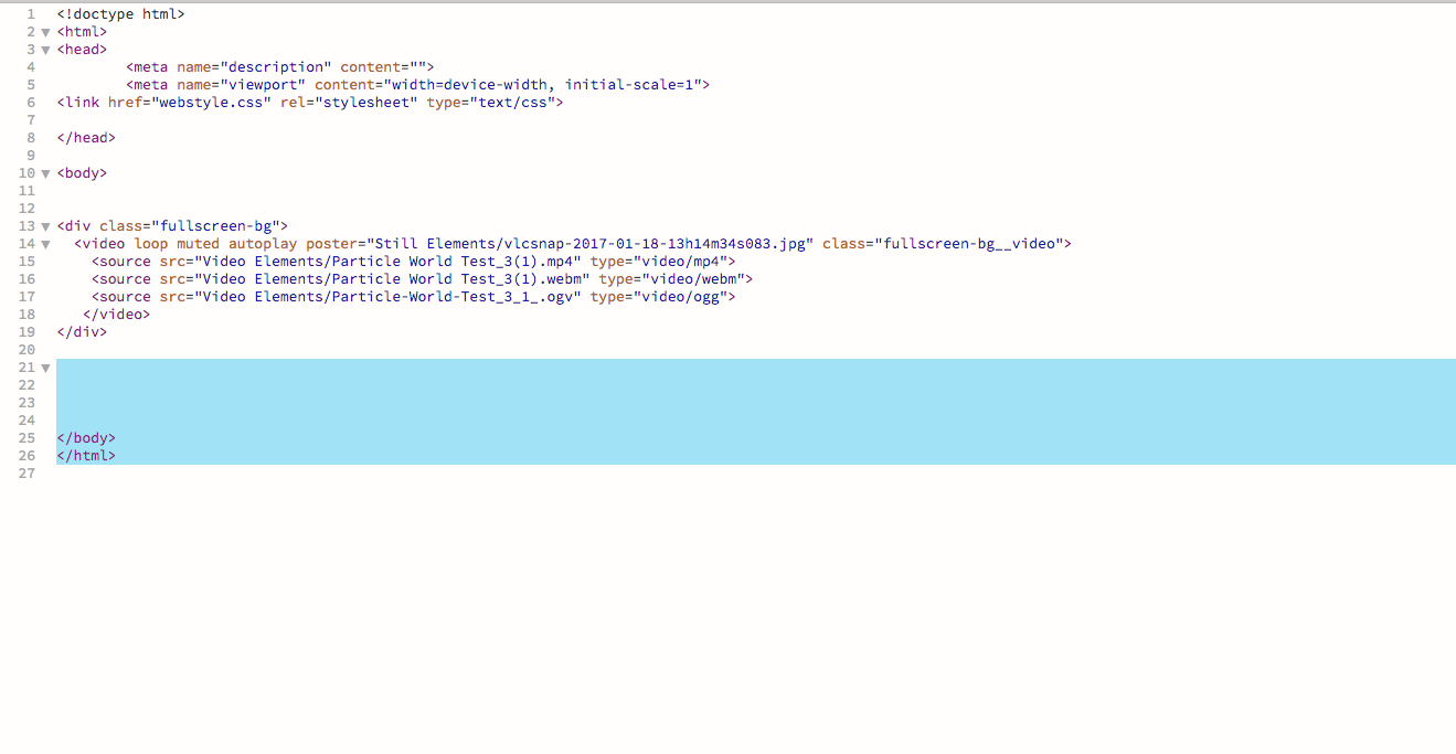 Creating a fullscreen HTML5 video background with CSS ...